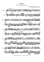 Pepusch J.C. - Sonate in D minor for Oboe/Flute and Guitar (Minus One Option)  arranged by Vincent F. Coley